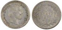 5 Cents 1879 Netherlands NETHERLANDS, KM #91, Silver, 12.5, 0.69 SS+  55,00 EUR  +  10,00 EUR shipping