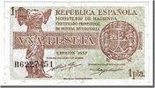 Spain 1 Peseta Foreign Banknoten Spain, 1 Peseta type 1937-38