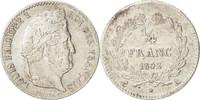 1/4 Franc 1842 A France Louis-Philippe AU(50-53)  120,00 EUR  +  10,00 EUR shipping