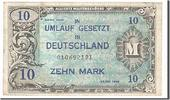 Germany 10 Mark Foreign Banknoten Germany, 10 Mark type 1944, Deutschland