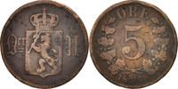 5 Öre 1875 Not Applicable Norwegen  VF(20-25)  20,00 EUR  zzgl. 10,00 EUR Versand