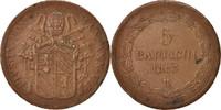 5 Baiocchi 1853 R États italiens PAPAL STATES, Pius IX, Roma,Cuivre,KM1... 60,00 EUR  + 6,00 EUR frais d'envoi