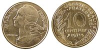 Fifth Republic (1959-2001) 10 Centimes French Moderns Frankreich V th Republic, 10 Centimes Marianne