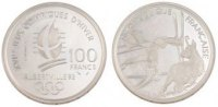 Fifth Republic (1959-2001) 100 Francs French Moderns Frankreich Vth Republic, 100 Francs JO of Albertville 1992