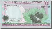 Rwanda 500 Francs Foreign Banknoten Rwanda, 500 Francs type 1998