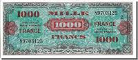 Trsor 1000 Francs French Banknoten des Schatzamt Frankreich 1000 Francs type Verso France
