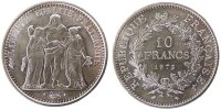 Fifth Republic (1959-2001) 10 Francs French Moderns Frankreich V Th Republic, 10 Francs Hercule
