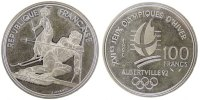 Fifth Republic (1959-2001) 100 Francs French Moderns Frankreich V Th Republic, 100 Francs JO d'Albertville 1992