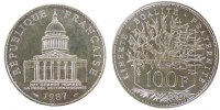 Fifth Republic (1959-2001) 100 Francs French Moderns Frankreich V Th Republic, 100 Francs Panthon
