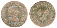 French Royal Double Tournois 1612 Paris VF...