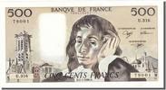 500 Francs 1990 France  UNC(60-62)  90,00 EUR  +  10,00 EUR shipping