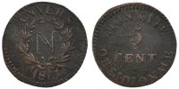 5 Centimes 1814 FRENCH STATES  EF(40-45)  160,00 EUR free shipping