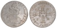 French Royal 1/2 Ecu Royal French coins Frankreich Königreichr Louis XIV, 1/2 Ecu with 8 L second type