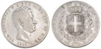 5 Lire 1839 Torino ITALIAN STATES Carlo Alberto VF(20-25)  60,00 EUR