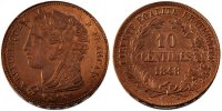 Essais 10 Centimes 1848 unz- French Second Republic, 10 Centimes essai p... 500,00 EUR