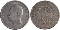 Germany 5 Mark 1908 Karlsruhe ss Foreign Coins Münzen Germany, Baden, Fr... 90,00 EUR
