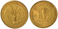 10 Francs 1957 (a) French West Africa  MS(65-70)  77.58 US$ 70,00 EUR  +  11.08 US$ shipping