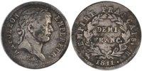 1/2 Franc 1811 B Frankreich Napoléon I EF(40-45)  110,00 EUR  zzgl. 10,00 EUR Versand