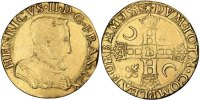 French Royal Double Henri d'or Royal French coins Frankreich Königreichr Henri II, Double Henri d'or premier type Golden
