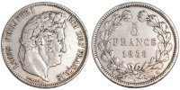 5 Francs 1838 MA France Louis-Philippe EF(40-45)  85.51 US$ 80,00 EUR  +  10.69 US$ shipping