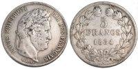 5 Francs 1834 M Frankreich Louis-Philippe VF(30-35)  100,00 EUR  zzgl. 10,00 EUR Versand