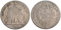 5 Francs 1801 K France Union et Force VF(20-25)  150,00 EUR free shipping