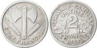 2 Francs 1943 B France Bazor VF(30-35)  60,00 EUR  + 6,00 EUR frais d'envoi