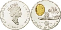 20 Dollars 1994 Royal Canadian Mint Canada Aviation Elizabeth II MS(65-... 150,00 EUR envoi gratuit