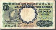 Malaya and British Borneo 1 Dollar 1959 ss Foreign Banknoten Malaya and ... 60,00 EUR