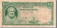 Greece 50 Drachmai Foreign Banknoten Greece, 50 Drachmai type Hesiod