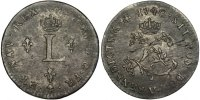 French Royal Double Sols 1740 Troyes VF Louis XV, Double sol aux 2 L cou... 200,00 EUR