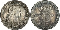 French Royal XX Sols 1719 Lille VF Louis XV, XX Sols de Navarre 180,00 EUR