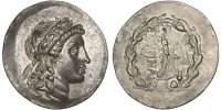 Tetradrachm Myrina  Apollo MS(63)