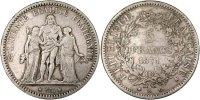 5 Francs 1871 A Frankreich Hercule EF(40-45)  290,00 EUR kostenloser Versand