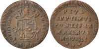 Mezzo (1/2) Baiocco 1802 R ITALIAN STATES Pius VII AU(50-53)  60,00 EUR  Excl. 10,00 EUR Verzending