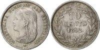 10 Cents 1892 Netherlands Wilhelmina I AU(55-58)  120,00 EUR  +  10,00 EUR shipping