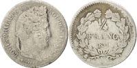 1/4 Franc 1831 D France Louis-Philippe F(12-15)  70,00 EUR  +  10,00 EUR shipping