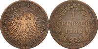 Kreuzer 1862 Frankfurt Deutsch Staaten  EF(40-45)  30,00 EUR