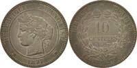 10 Centimes 1877 A Frankreich Cérès EF(40-45)  130,00 EUR  zzgl. 10,00 EUR Versand
