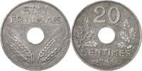 20 Centimes 1944 Paris Frankreich État français AU(50-53)  75,00 EUR  excl. 10,00 EUR verzending