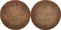 Heller 1819 F Deutsch Staaten  VF(30-35)  20,00 EUR  zzgl. 10,00 EUR Versand