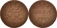 Heller 1820 F Deutsch Staaten  VF(30-35)  15,00 EUR  zzgl. 10,00 EUR Versand