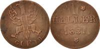 Heller 1821 F Deutsch Staaten  VF(30-35)  12,00 EUR  zzgl. 10,00 EUR Versand