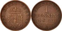 Pfennig 1867 C Deutsch Staaten Wilhelm I AU(50-53)  20,00 EUR  zzgl. 10,00 EUR Versand