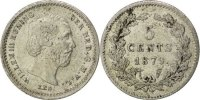 5 Cents 1879 Netherlands William III AU(55-58)  70,00 EUR  +  10,00 EUR shipping