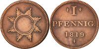 Pfennig 1819 Deutsch Staaten FRANKFURT AM MAIN, S+, Copper, KM:Tn7 S+  18,00 EUR  zzgl. 10,00 EUR Versand