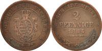 2 Pfennig 1864 Deutsch Staaten SAXONY-ALBERTINE, Johann, SS, Copper, KM... 20,00 EUR  zzgl. 10,00 EUR Versand