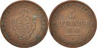 5 Pfennig 1863 Deutsch Staaten SAXONY-ALBERTINE, Johann, SS, Copper, KM... 30,00 EUR  zzgl. 10,00 EUR Versand