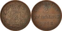 2 Pfennig 1868 Deutsch Staaten BAVARIA, Ludwig II, SS+, Copper, KM:857 ... 20,00 EUR  zzgl. 10,00 EUR Versand