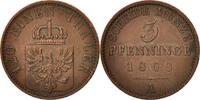 3 Pfennig 1868 A Deutsch Staaten PRUSSIA, Wilhelm I, Berlin, SS+, Coppe... 20,00 EUR  zzgl. 10,00 EUR Versand